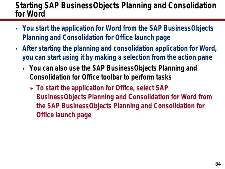 sap business planning and consolidation ppt background