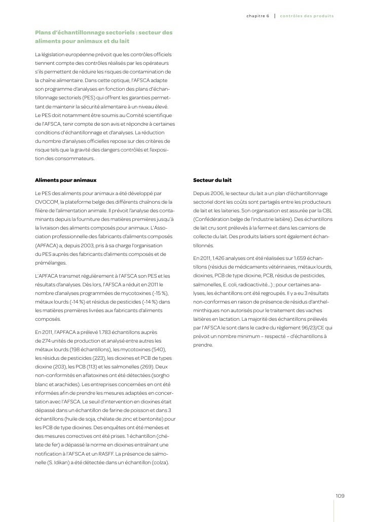 Le rapport de l'Afsca