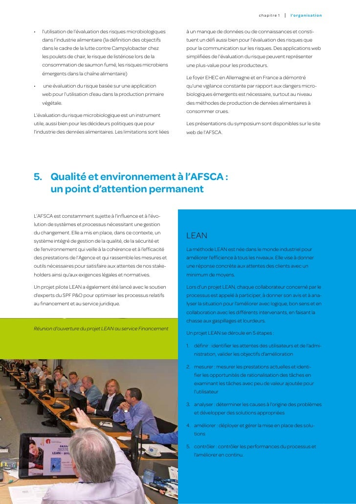 5.1. Contrôle interne                                            5.2. Audit interne     Afin de systématiser la gestion ...