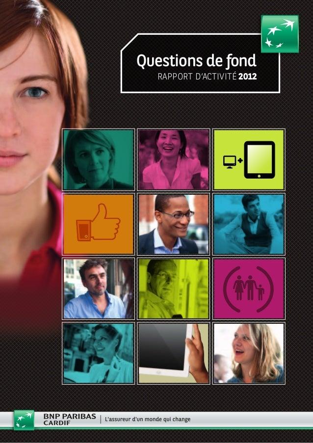 Questions de fond rapport d'activité 2012