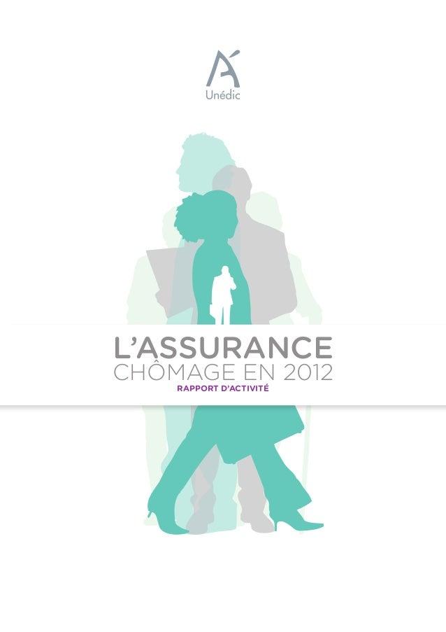 RAPPORT D'ACTIVITÉ CHÔMAGE EN 2012 L'ASSURANCE