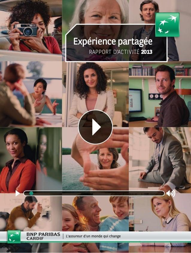 Expérience partagée RAPPORT D'ACTIVITÉ 2013