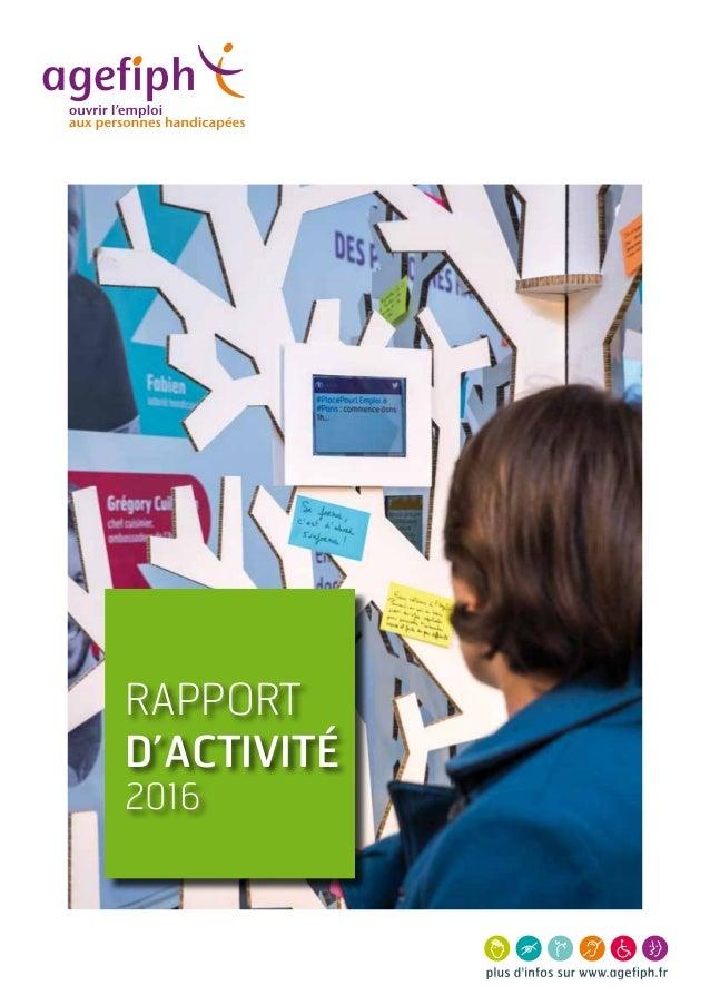 1 RAPPORT D'activité 2016