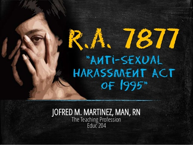 Sexual harassment act slideshare account
