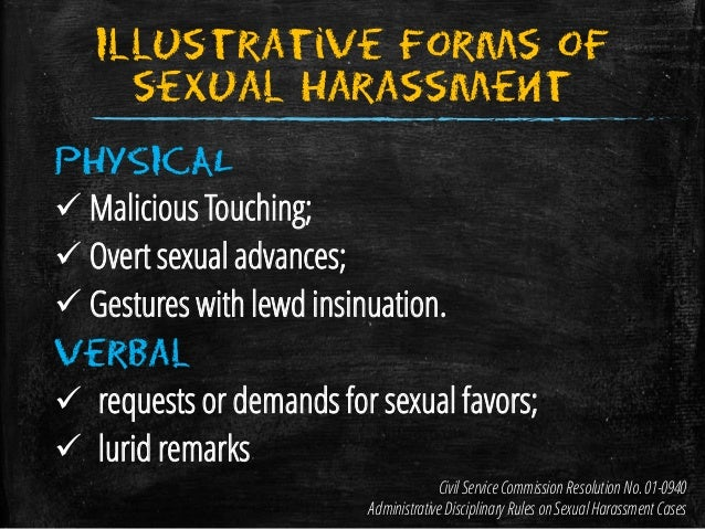 Sexual harassment in the workplace cases philippines