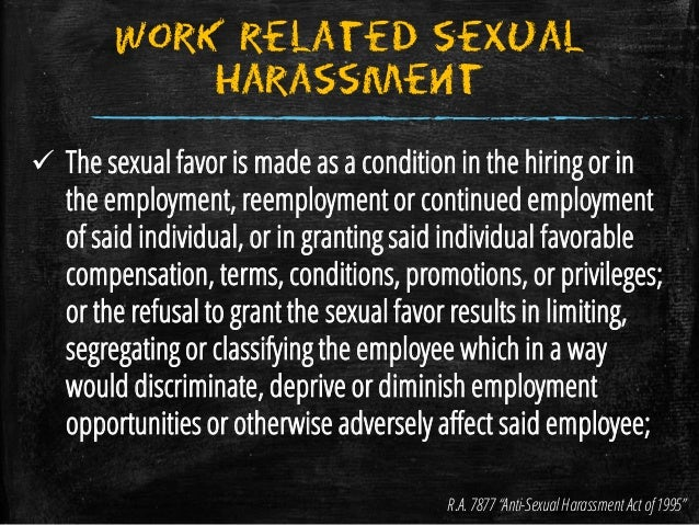 Ra 7877 anti-sexual harassment act pdf