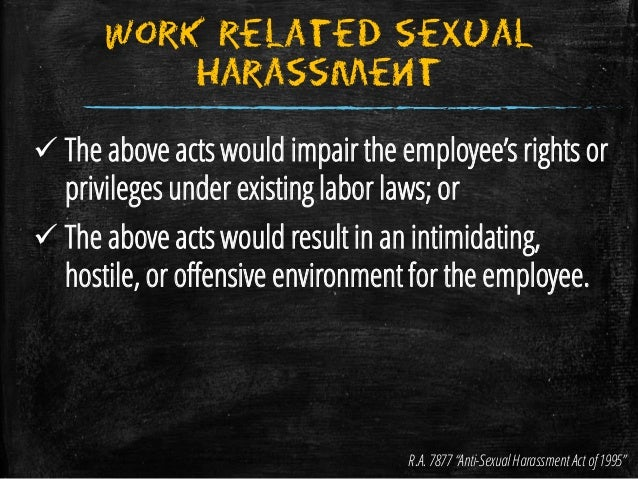 Anti sexual harassment act 1995 philippines postal code