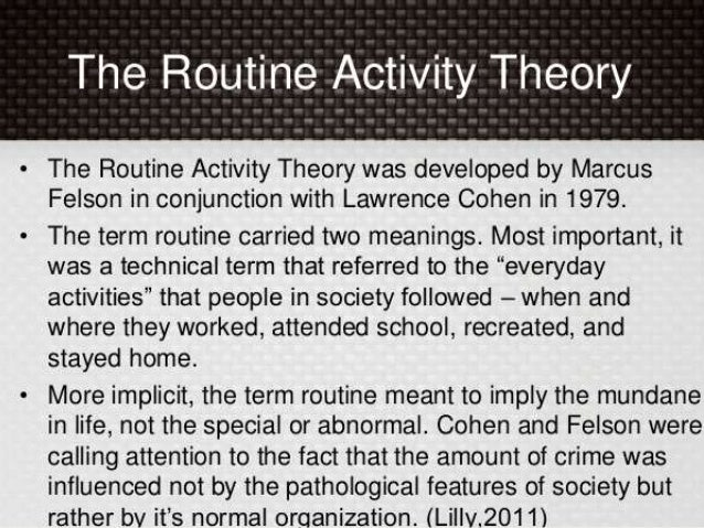 routine activities theory Essay Examples