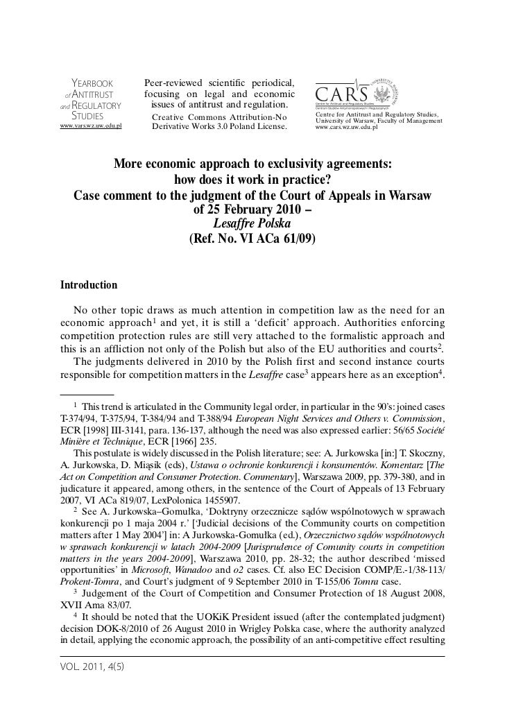 YEARBOOK            Peer-reviewed scientific periodical, of ANTITRUST           focusing on legal and economicand REGULATO...