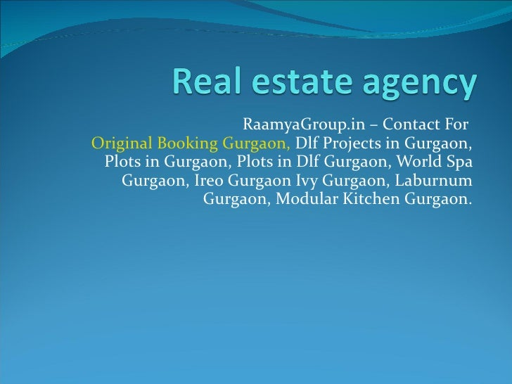 RaamyaGroup.in – Contact For  Original Booking Gurgaon,  Dlf Projects in Gurgaon, Plots in Gurgaon, Plots in Dlf Gurgaon, ...