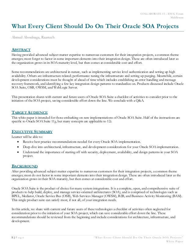"""COLLABORATE 15 – IOUG Forum Middleware 1 