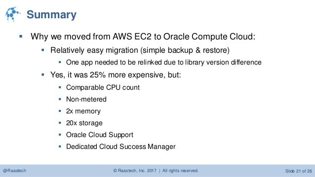 Oracle Oci Vs Aws