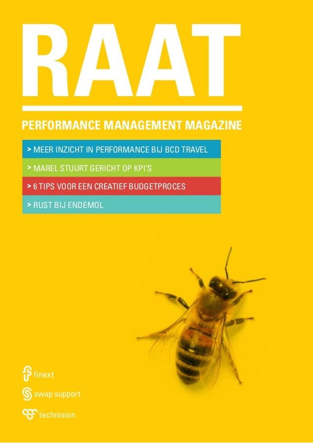 RAAT  performance management magazine > Meer inzicht in performance bij BCD Travel > Marel stuurt gericht op KPI's > 6 tip...