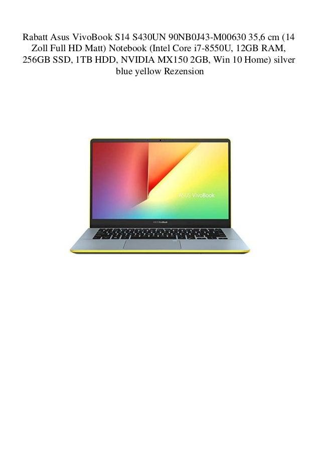 Rabatt Asus VivoBook S14 S430UN 90NB0J43-M00630 35 6 cm (14