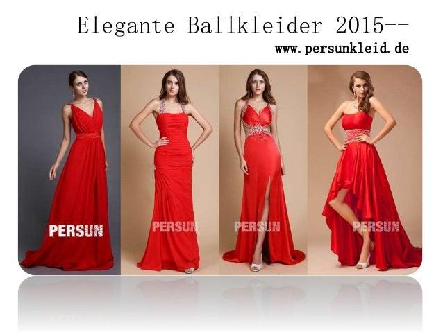 Elegante Ballkleider 2015-- www.persunkleid.de