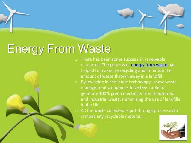 How Energy From Waste Can Help Save The Planet