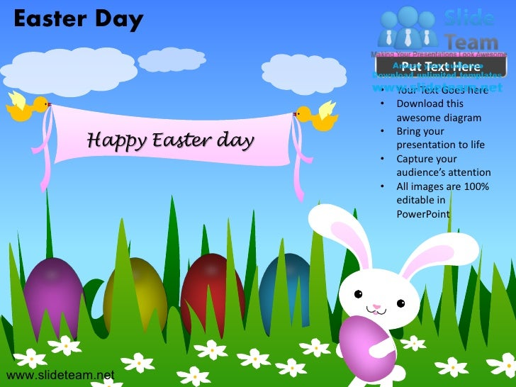 Rabbit happy easter day powerpoint templates.