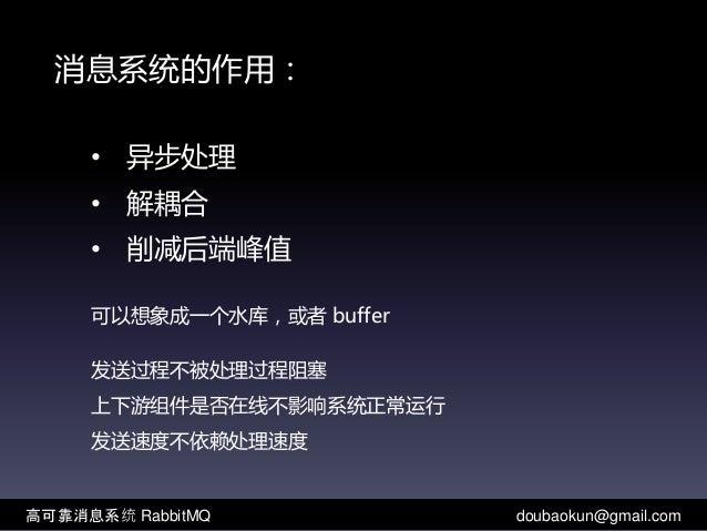 高可靠消息系统RabbitMQ Slide 2
