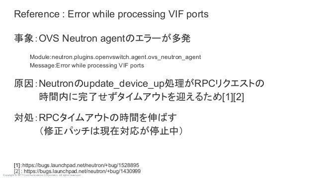 Copyright © NTT Communications Corporation. All rights reserved. [1]:https://bugs.launchpad.net/neutron/+bug/1528895 [2] :...
