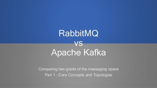 RabbitMQ vs Apache Kafka - Part 1