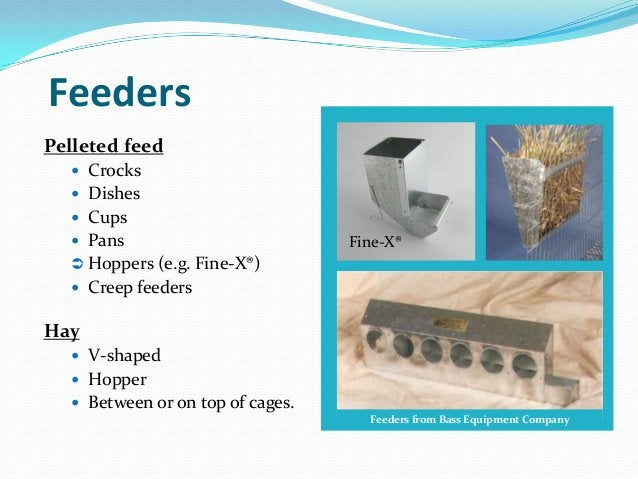 FeedersPelleted feed   Crocks   Dishes   Cups   Pans                          Fine-X®   Hoppers (e.g. Fine-X®)   Cre...