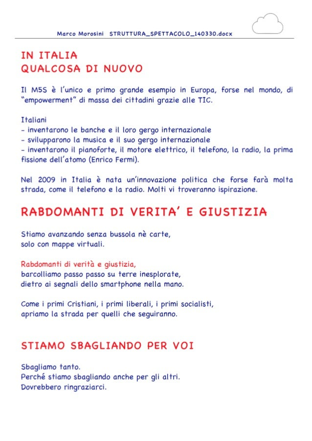Rabdomanti  Grillo Marco Morosini testo 30 marzo 2014