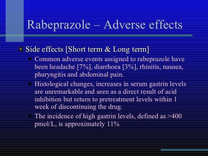 Rabeprazole Side Effects Rash