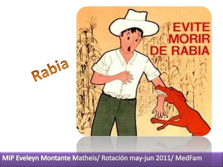 Rabia<br />MIP Eveleyn Montante Matheis/ Rotación may-jun 2011/ MedFam<br />