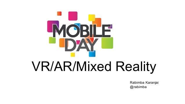 Mobile Day - WebVR