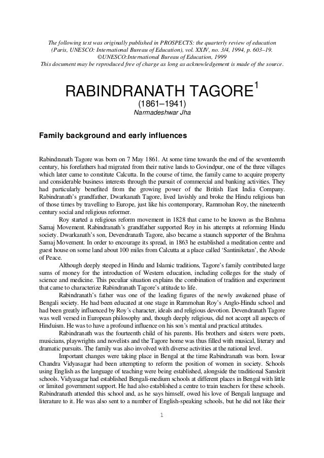 essay on rabindranath tagore in bengali pdf