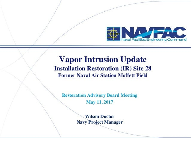 ACTIVITY NAME Vapor Intrusion Update Former Naval Air Station Moffett Field Restoration Advisory Board Meeting May 12, 201...