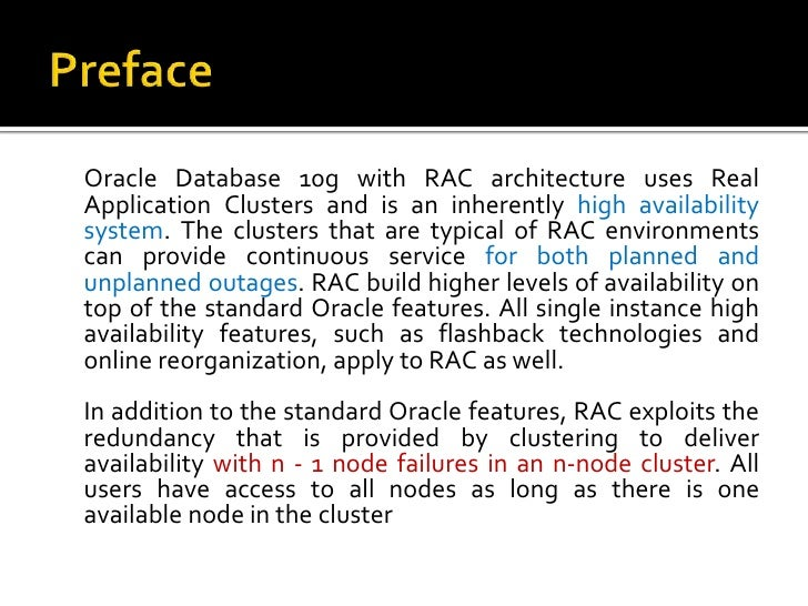 oracle real application testing 10g Re: testing apex using oracle real application testing 819458 mar 10, 2011 4:17 pm ( in response to fac586 ) i've been told that there is an issue currently using rat to test apex applications (that results in the ora-01403 errors i've been seeing) no eta for fix at this stage unfortunately :.