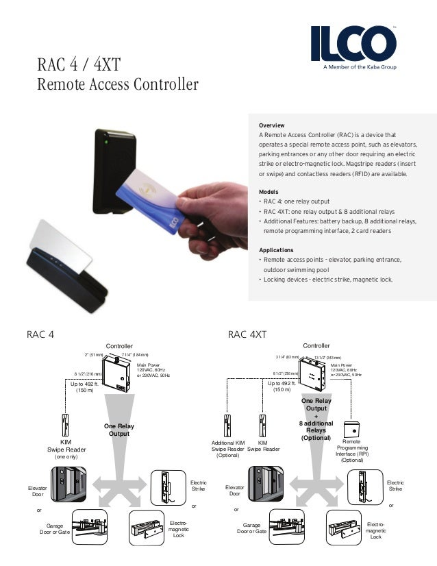 Overview A Remote Access Controller (RAC) is a device that operates a special remote access point, such as elevators, park...