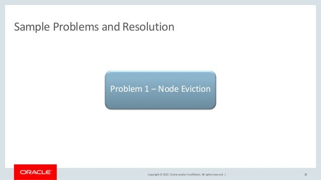 Copyright © 2017, Oracle and/or its affiliates. All rights reserved. | Sample Problems and Resolution 29 Problem 1 – Node ...