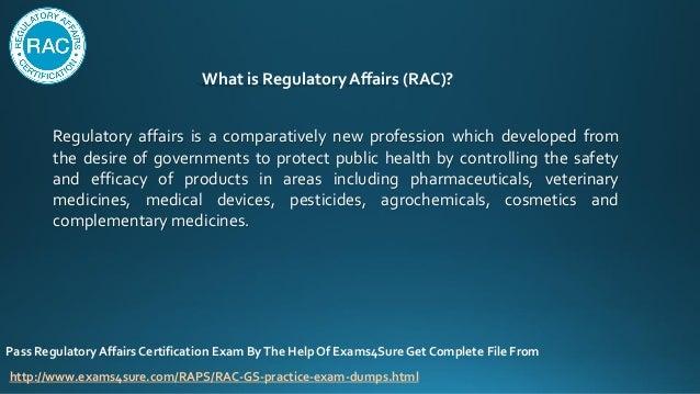 regulatory affairs certification dumps