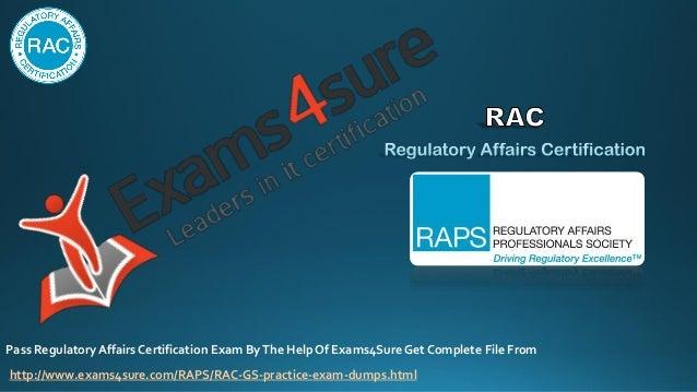 regulatory certification affairs dumps