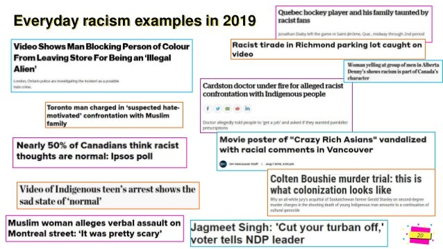 Jens Martensson Everyday racism examples in 2020