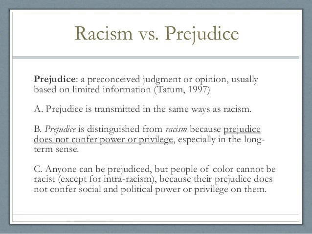 Definition and complication of racism