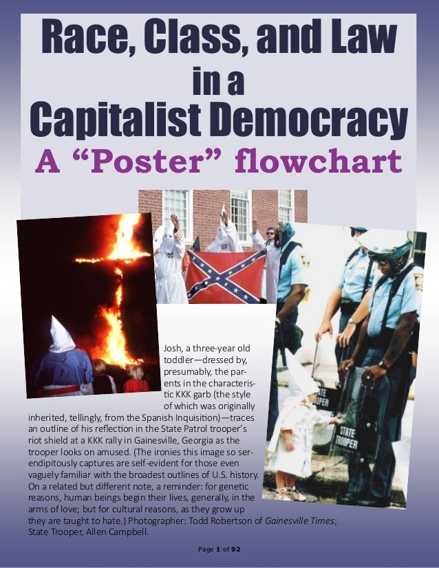 """Page 1 of 92 Race, Class, and Law in a Capitalist Democracy A """"Poster"""" flowchart Josh, a three-year old toddler—dressed by..."""