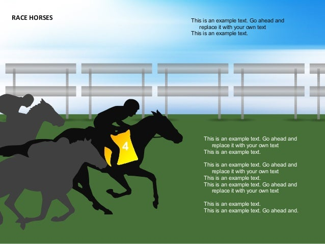 RACE HORSES This is an example text. Go ahead and replace it with your own text This is an example text. This is an exampl...