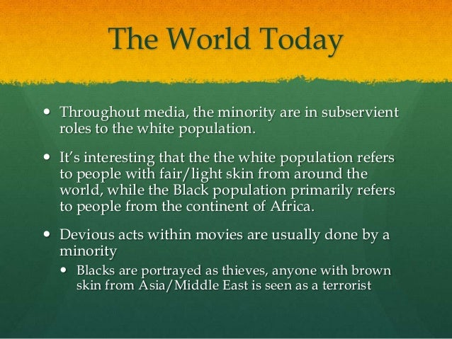 media s portrayal of black america Harris 1 reversing stereotypes: the good black man america has yet to know alexandria harris pepperdine university march 30, 2015 author's note: this paper was.
