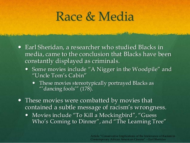 media portrayal of blacks in an Free essay: the media's negative portrayal of african american males they squirmed, pencils tapping their desks anxiously none of their papers contained.