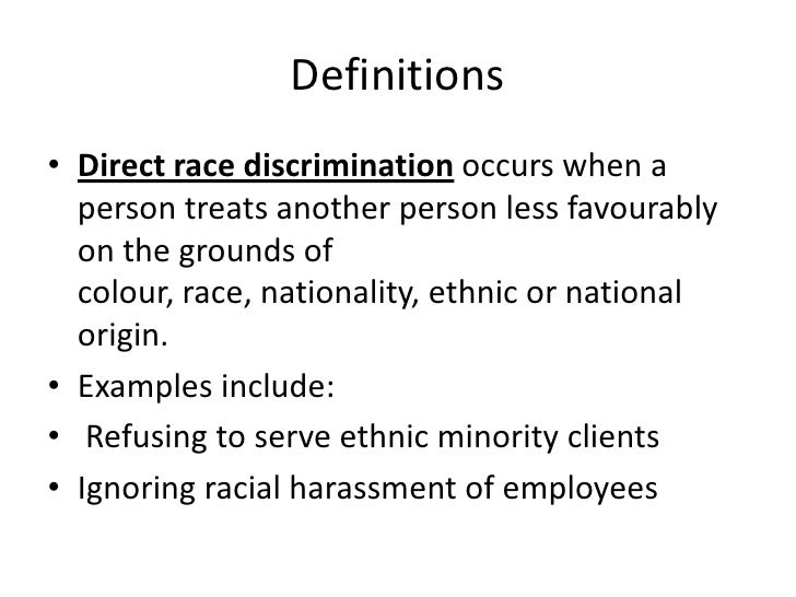 effects of discriminatory practice The physical effects of discriminatory practice maybe that the individual who is being subjected to discrimination starts to feel unworthy within.
