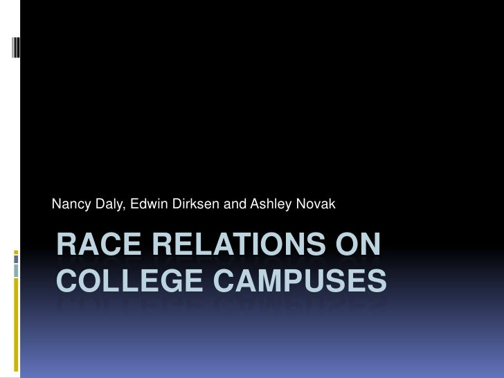 Nancy Daly, Edwin Dirksen and Ashley Novak<br />Race Relations on College Campuses<br />