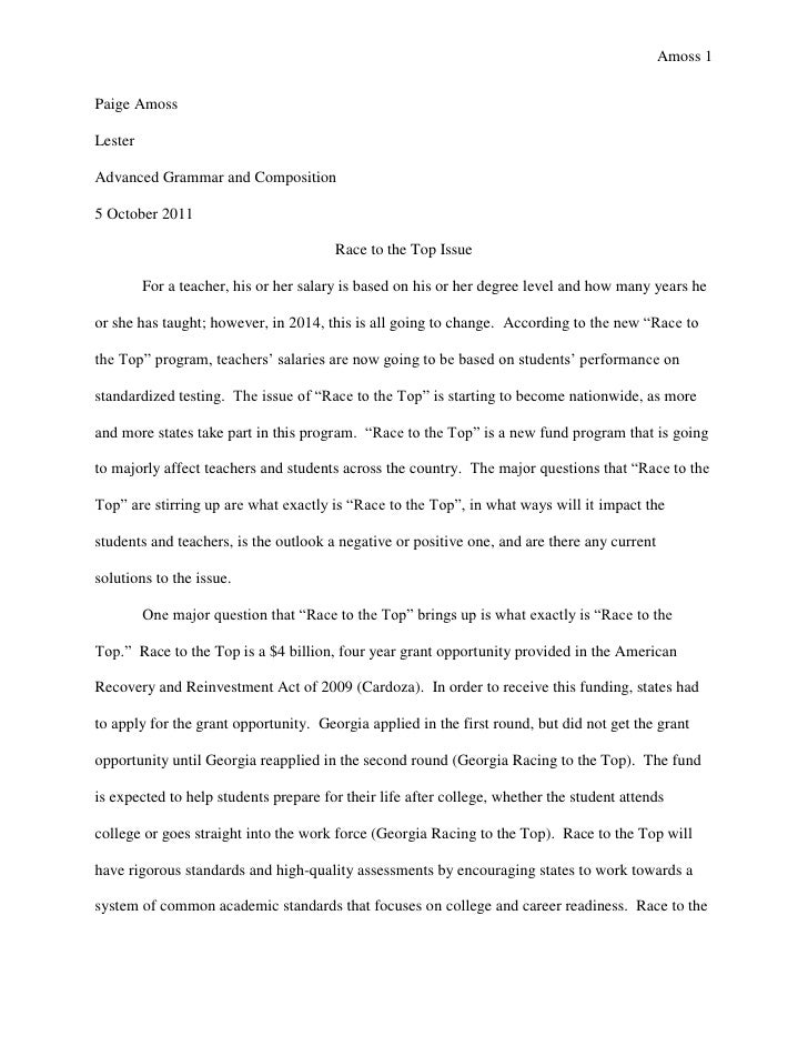 Top of research paper