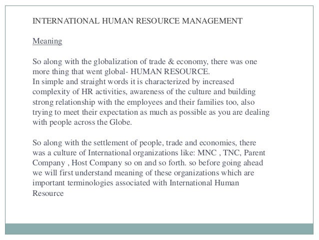 globalization in hrm