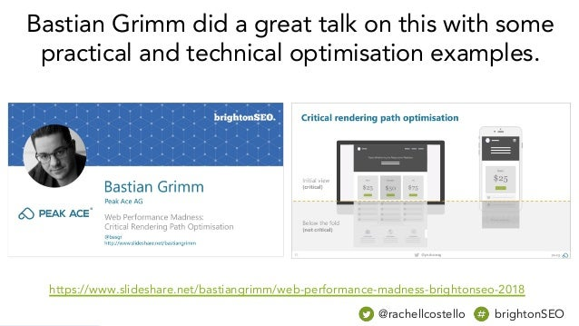 @rachellcostello brightonSEO Bastian Grimm did a great talk on this with some practical and technical optimisation example...