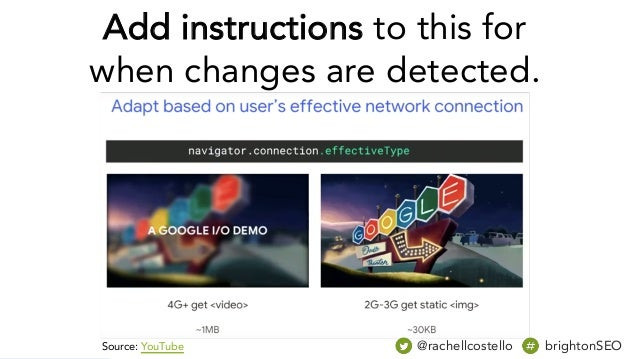 @rachellcostello brightonSEO Add instructions to this for when changes are detected. Source: YouTube