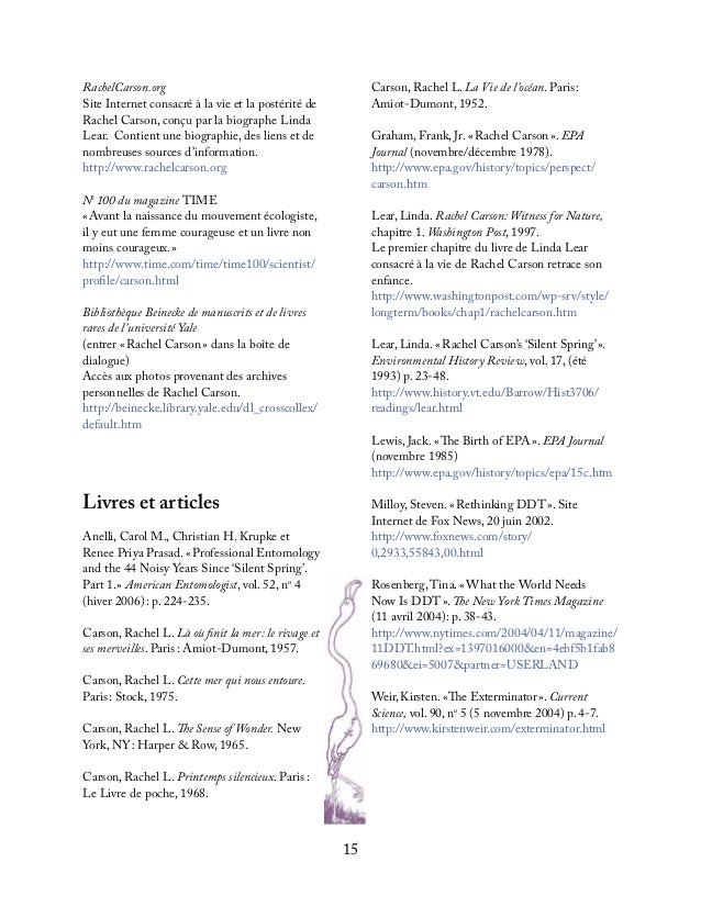 16PostéritéNature and Environmental Writers – Collegeand University EducatorsOrganisation à but non lucratif consacrée àl'...