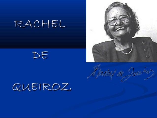 RACHEL  DEQUEIROZ